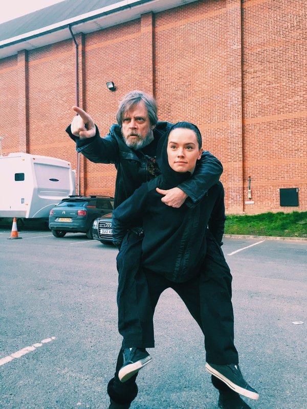 Mark Hamill et Daisy Ridley